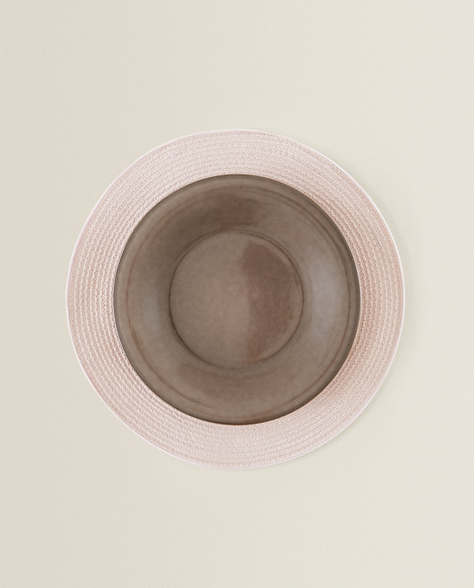 ROUND CONTRAST PLACEMAT (PACK OF 2)