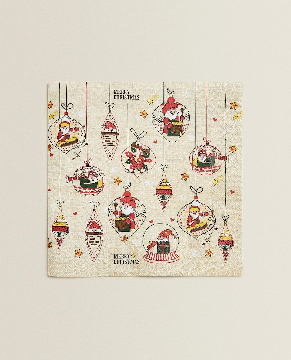 SANTA CLAUS PAPER NAPKINS (PACK OF 20)