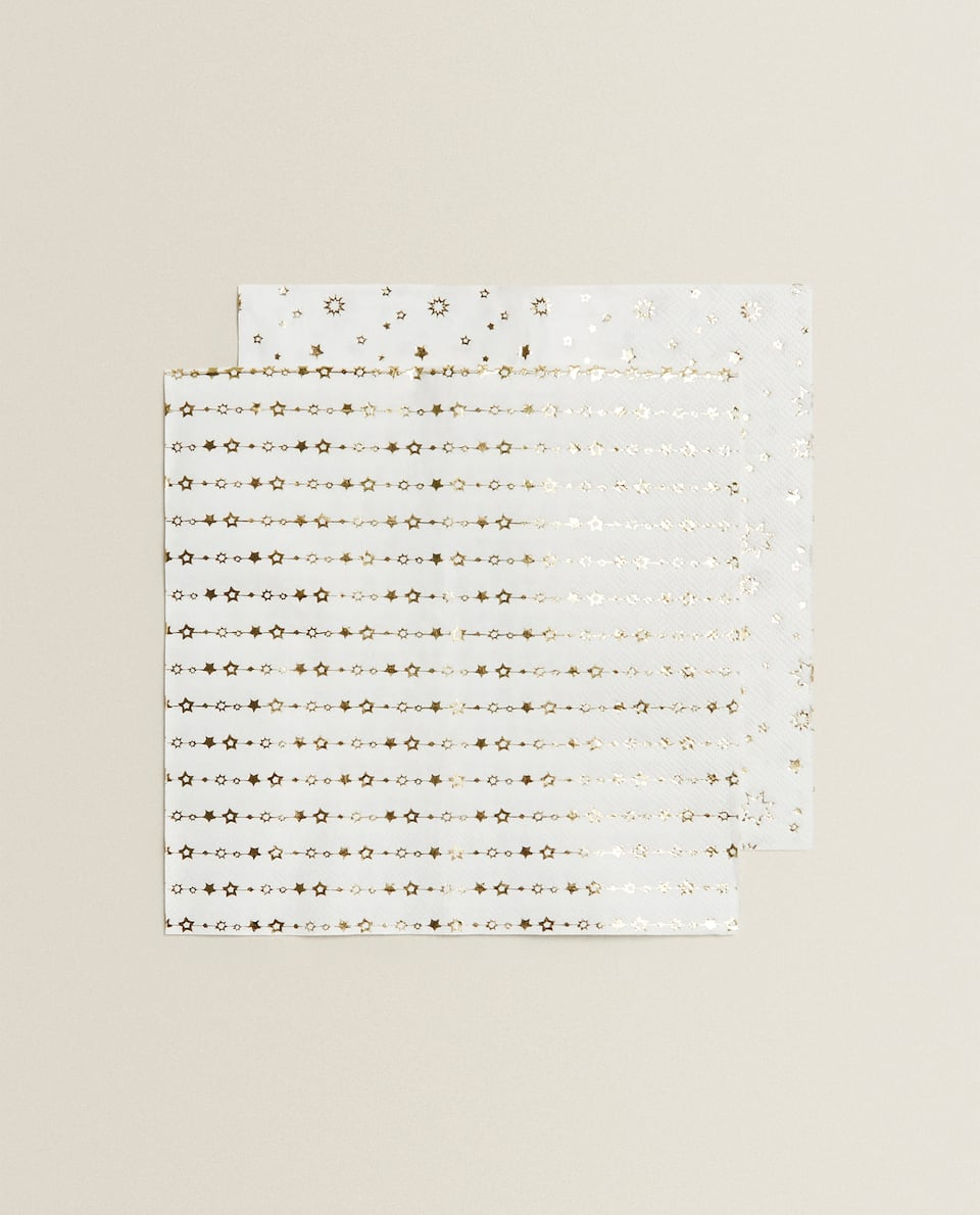 GOLD STAR PAPER NAPKINS (PACK OF 20)
