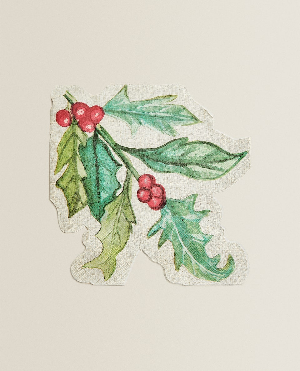 HOLLY PAPER NAPKINS (PACK OF 20)