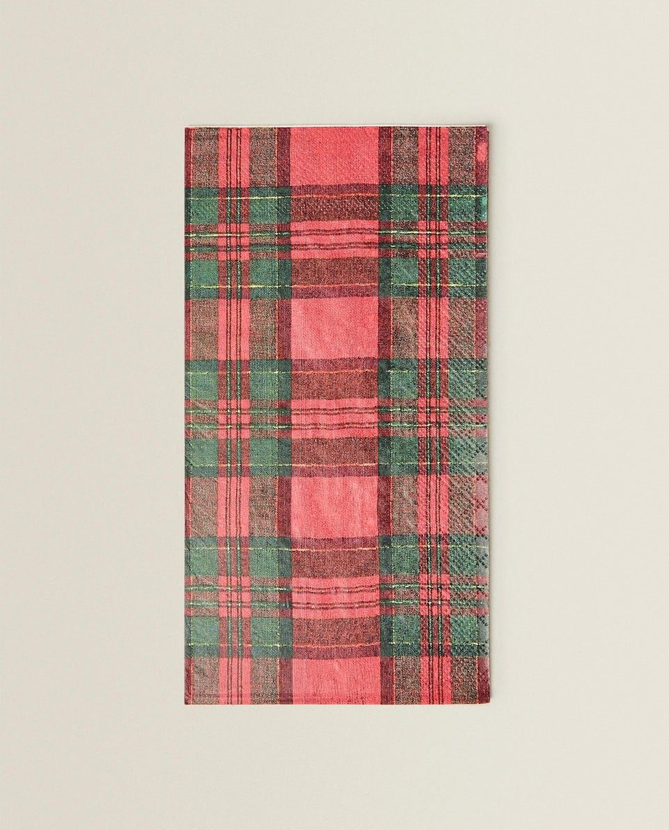 TARTAN PAPER NAPKINS (PACK OF 20)