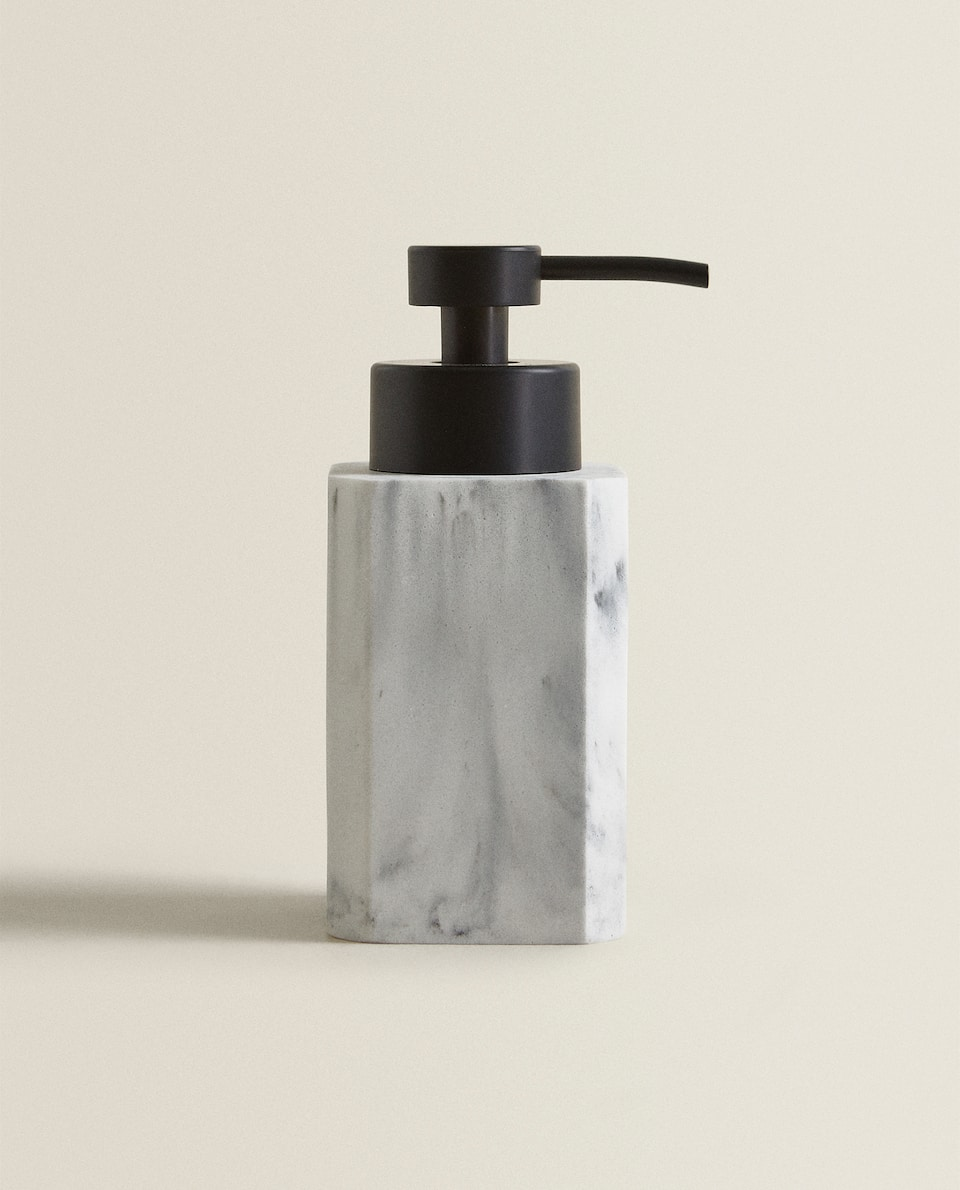 MARBLE-EFFECT SOAP DISPENSER
