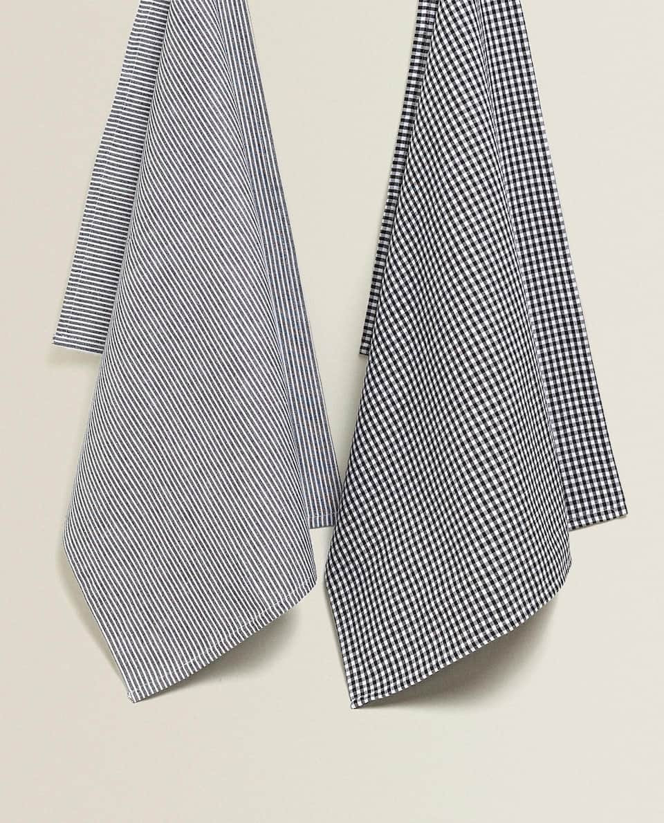 GINGHAM TEA TOWEL (PACK OF 2)