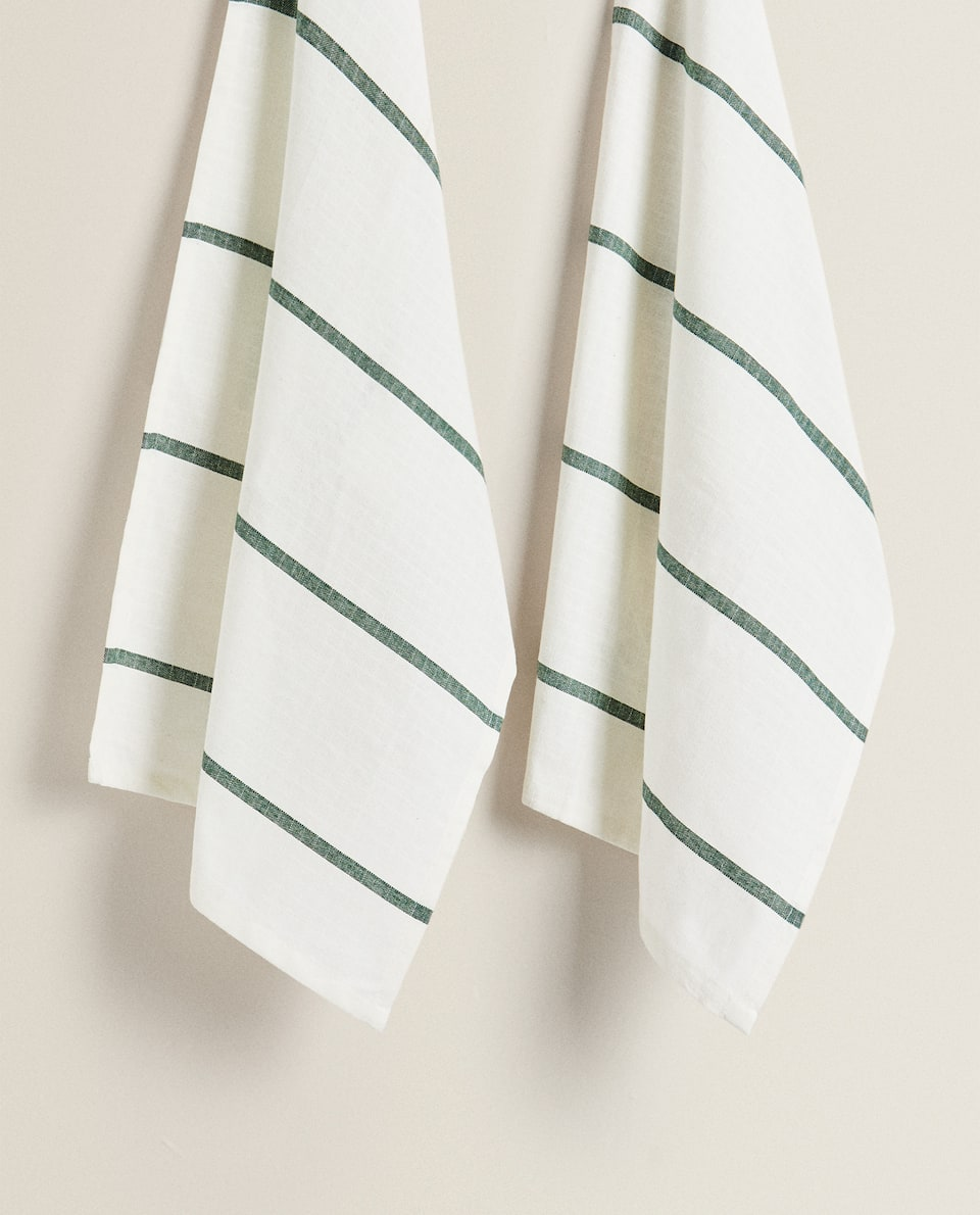 STRIPED KITCHEN TOWEL (PACK OF 2)