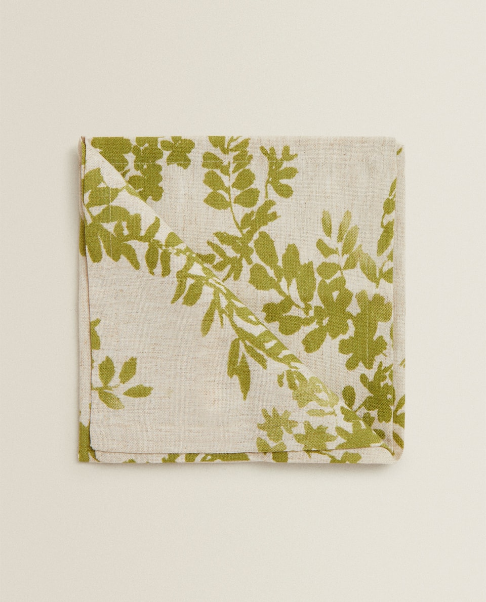 LEAF PRINT NAPKIN (PACK OF 2)