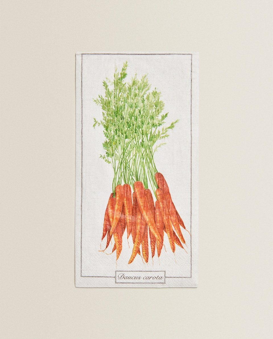 CARROT-DESIGN PAPER NAPKINS (PACK OF 20)