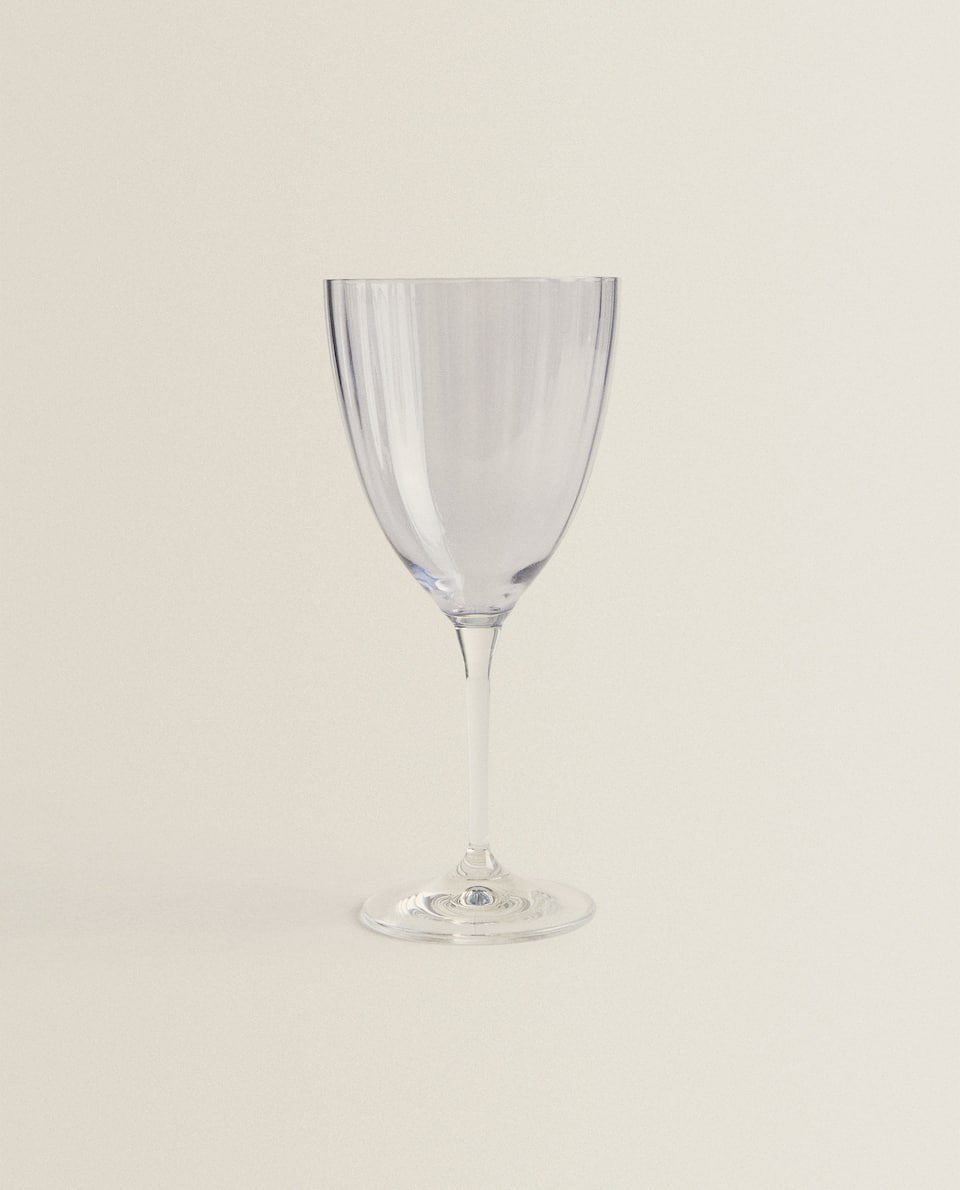 BOHEMIA CRYSTAL COLOURED WINE GLASS