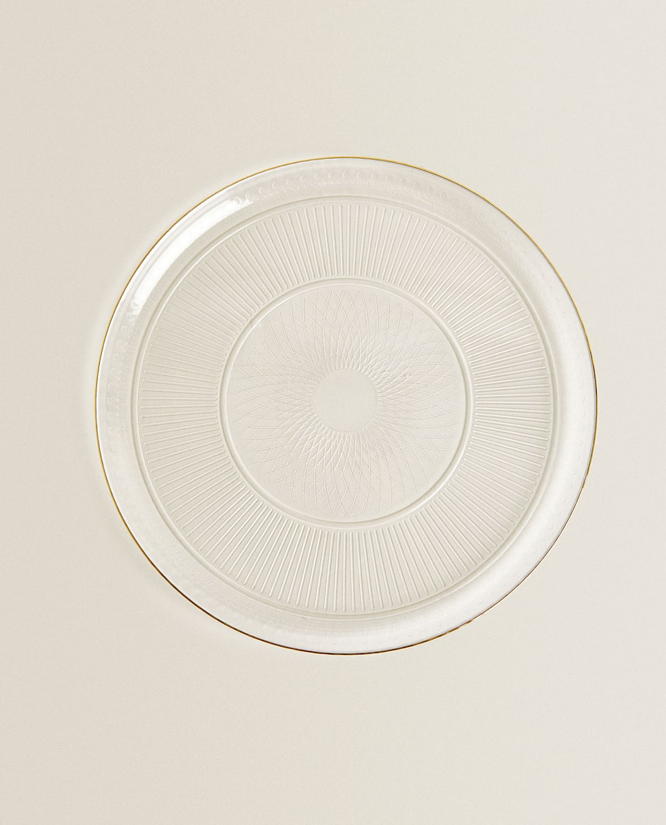 GOLD-RIMMED SERVICE PLATE