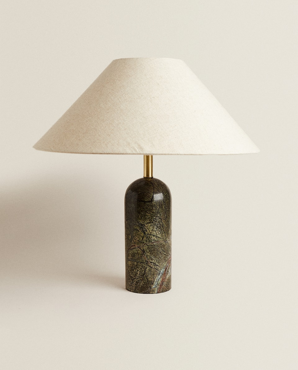 LAMP WITH MARBLE BASE