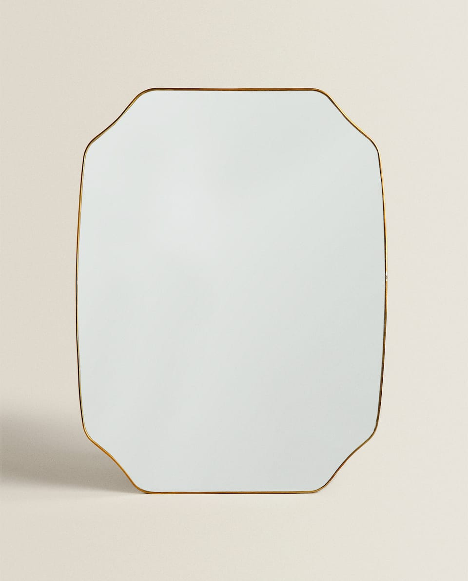 MIRROR WITH THIN METAL FRAME