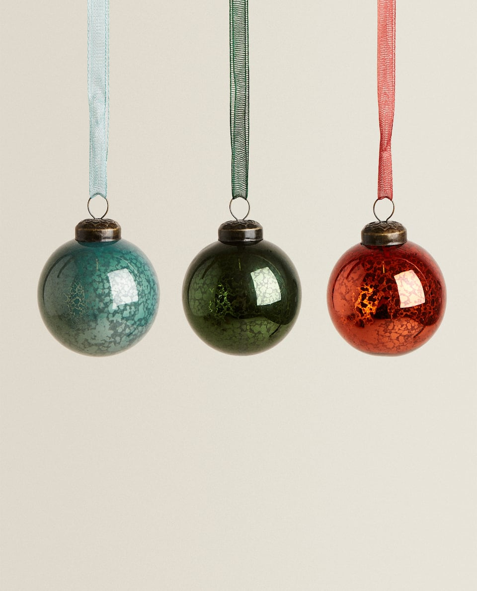 3-PACK OF CHRISTMAS BAUBLES