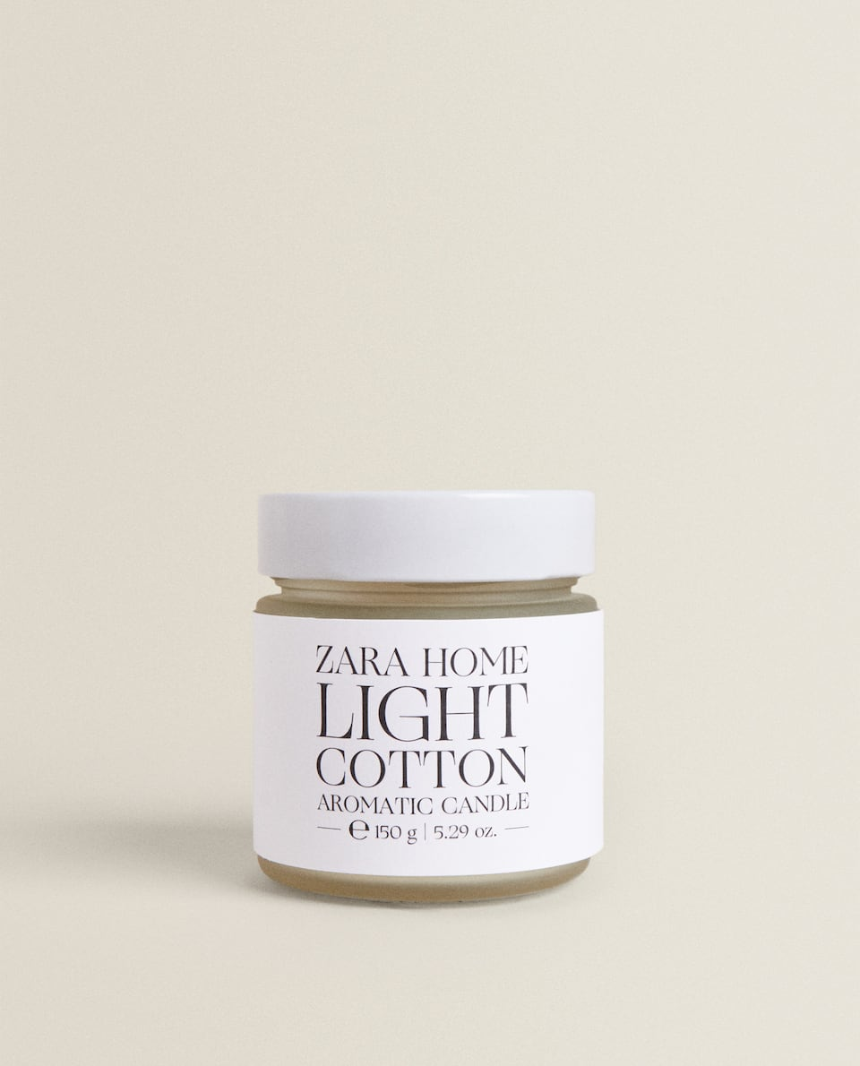 BOUGIE PARFUMÉE LIGHT COTTON (150 G)