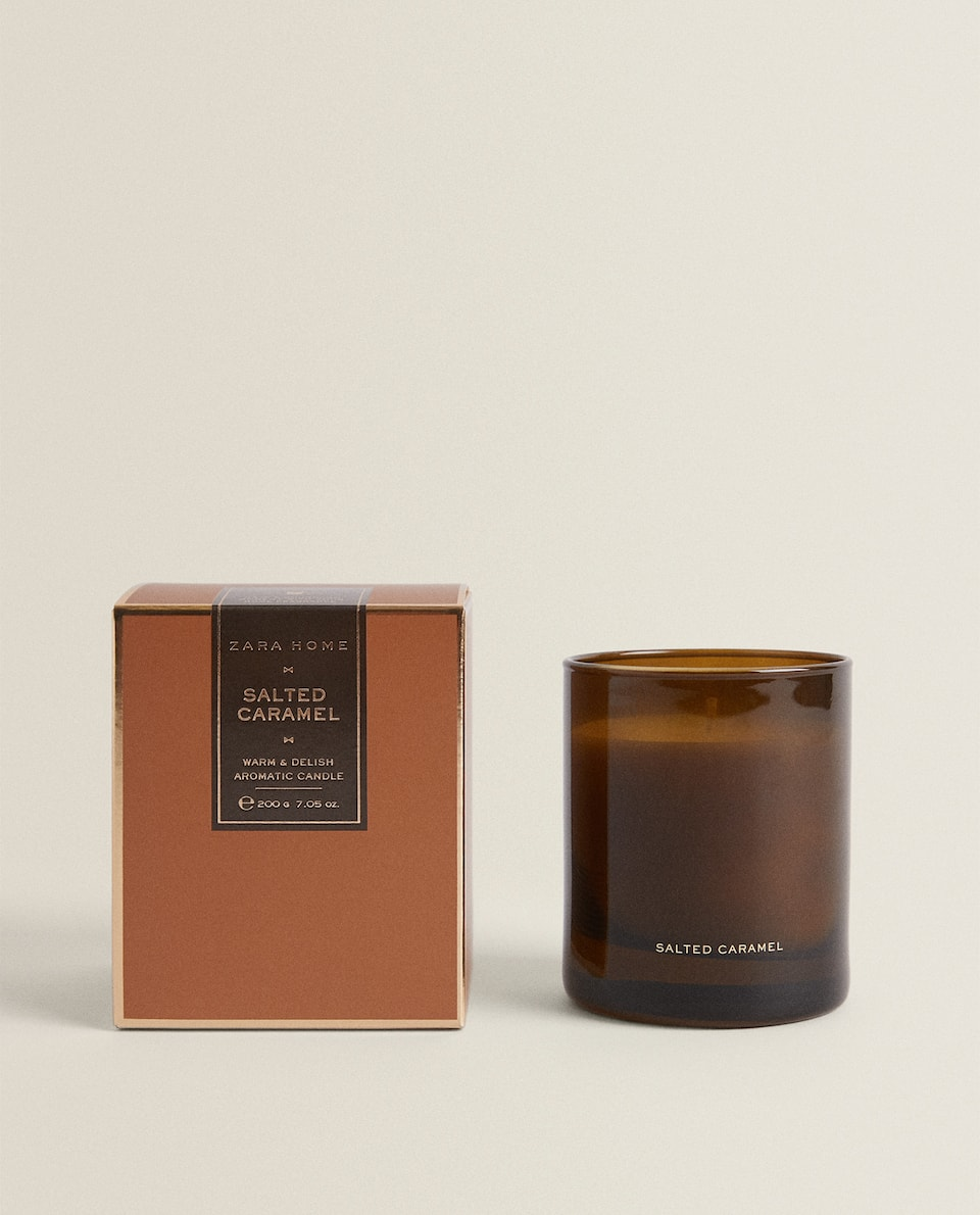 (200 G) SALTED CARAMEL SCENTED CANDLE