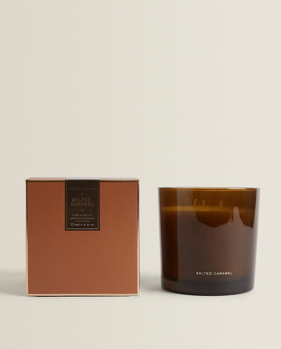 (620 G) SALTED CARAMEL SCENTED CANDLE
