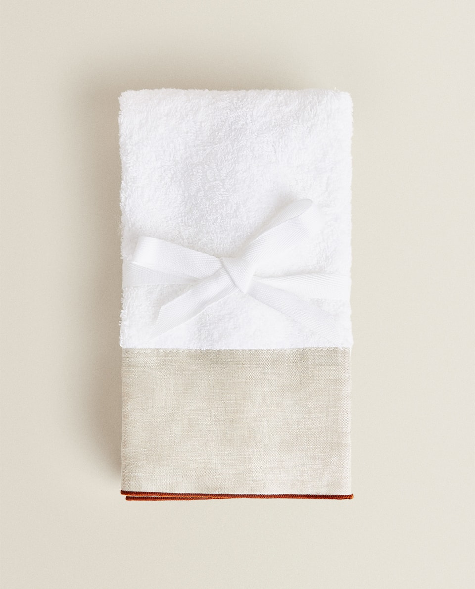 TOWEL WITH CONTRAST APPLIQUÉ (2-PACK)