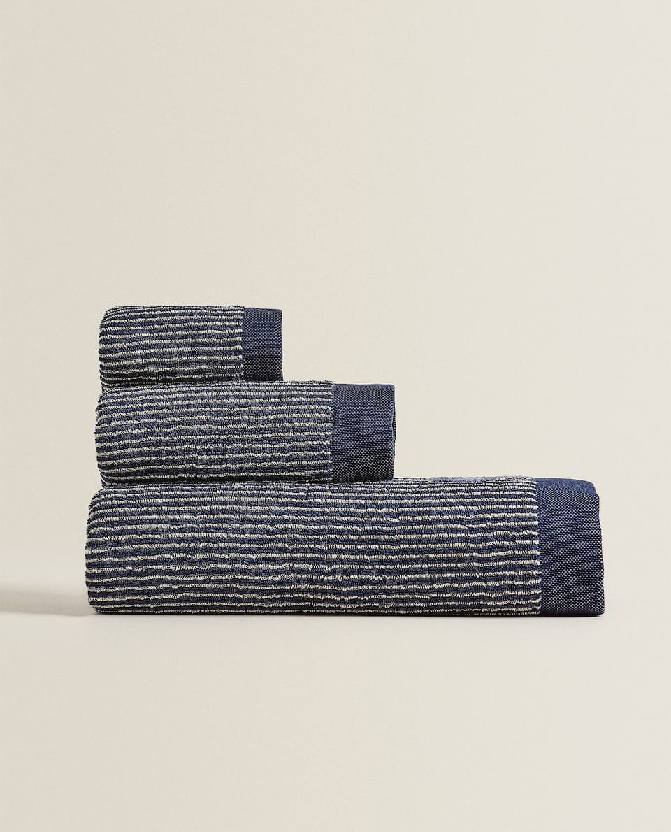 STRIPED COTTON TOWEL