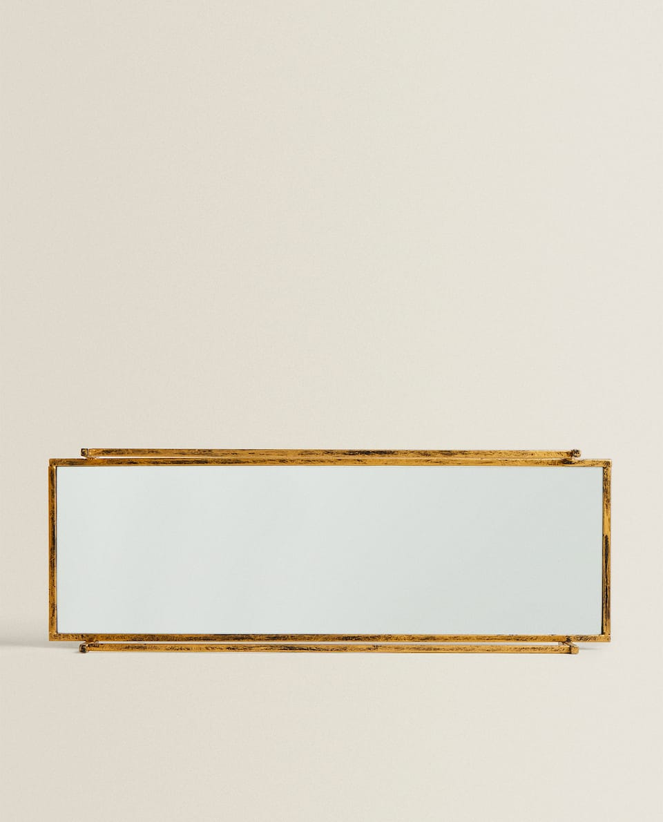 GOLDEN MIRROR TRAY