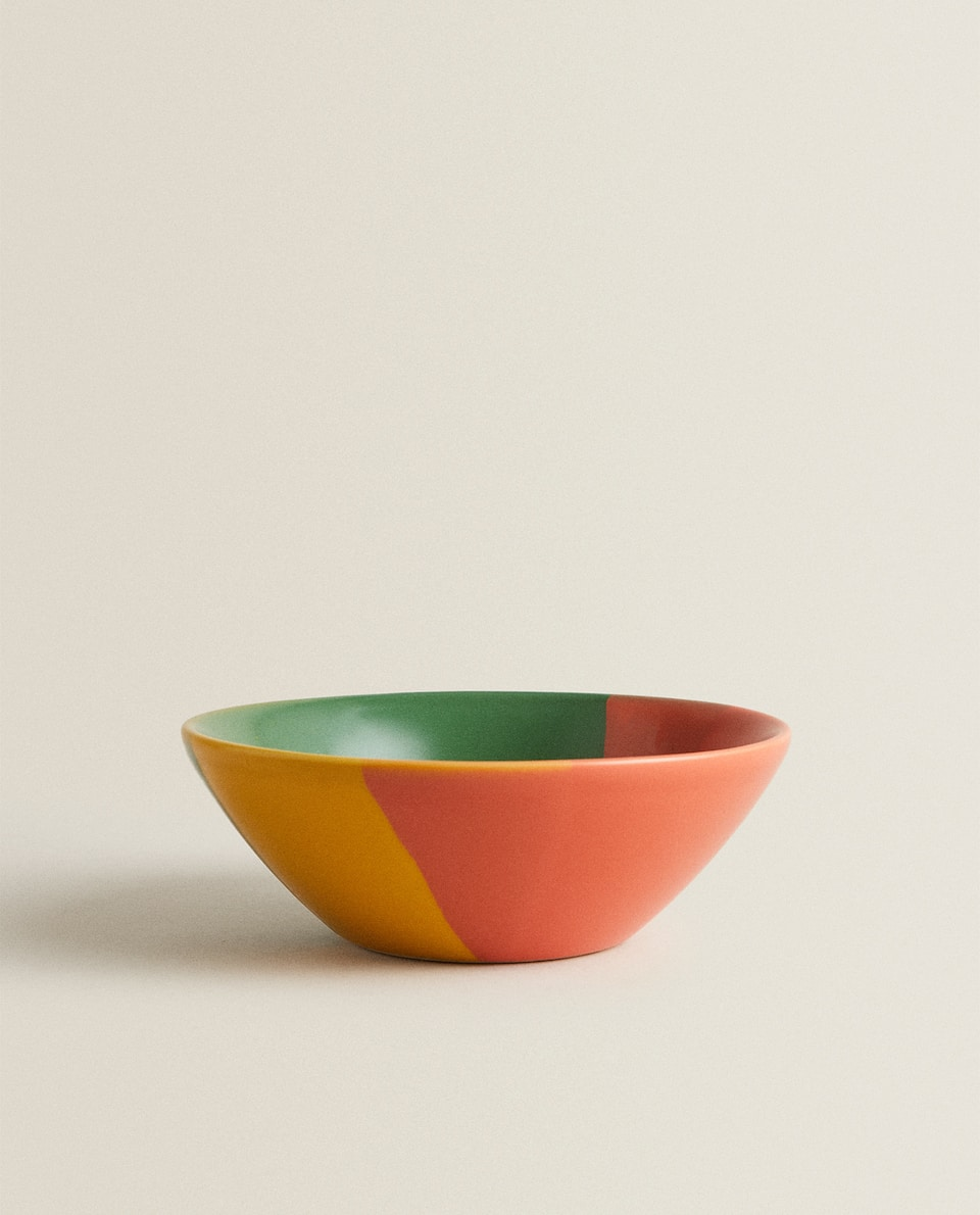 MULTICOLOURED STONEWARE BOWL