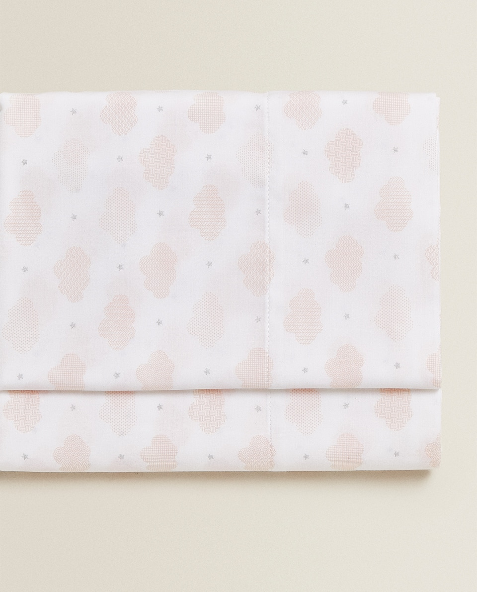 CLOUD AND STAR PRINT FLAT SHEET