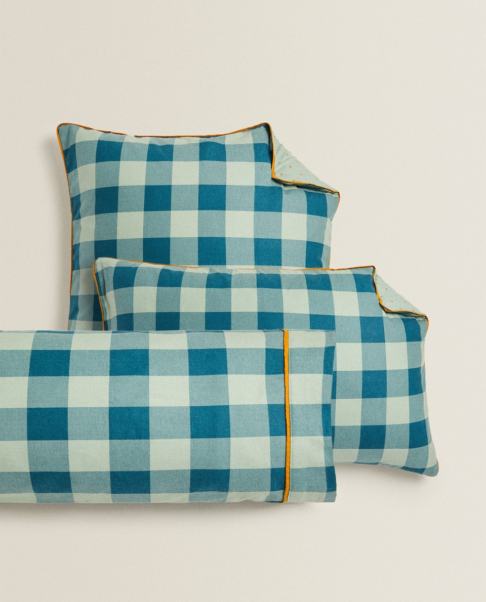 FLANNEL CHECKED PILLOWCASE