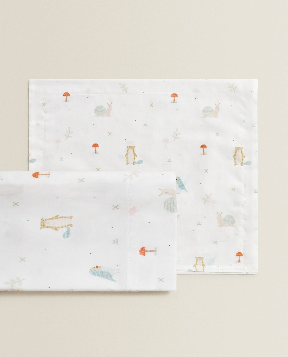 PRINTED MINI COT AND MOSES BASKET SHEET SET