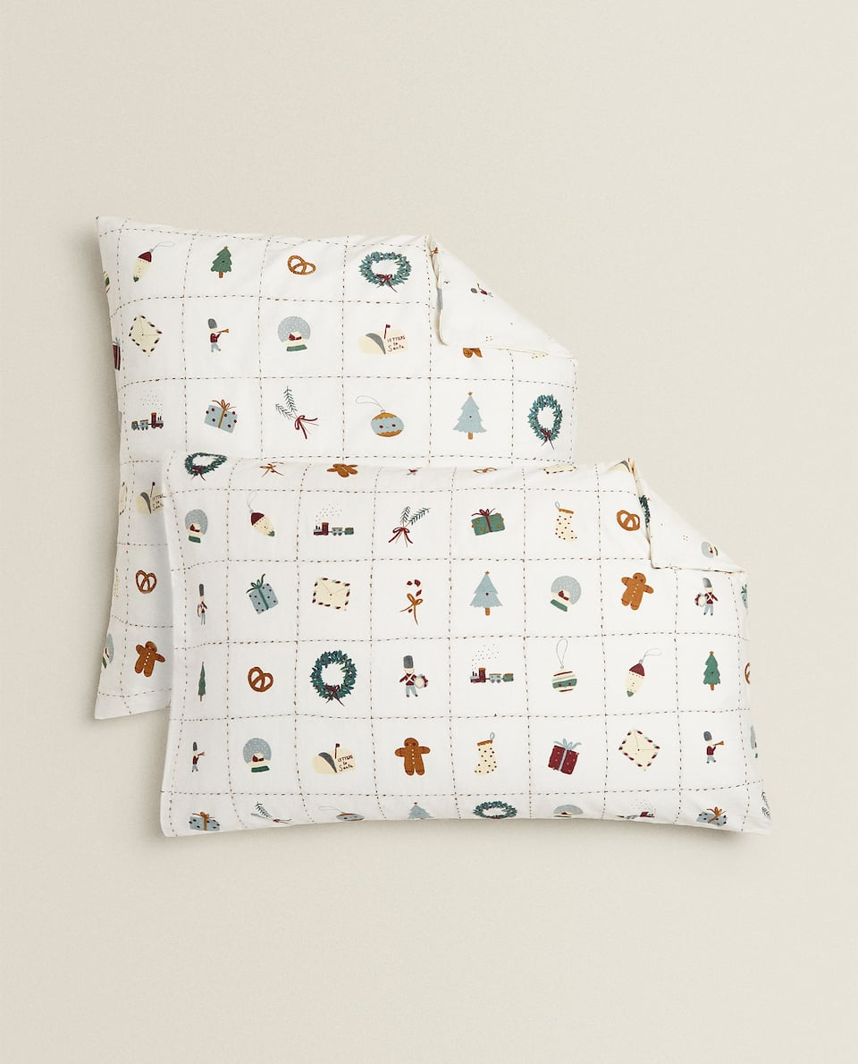 CHRISTMAS MOTIFS PILLOWCASE