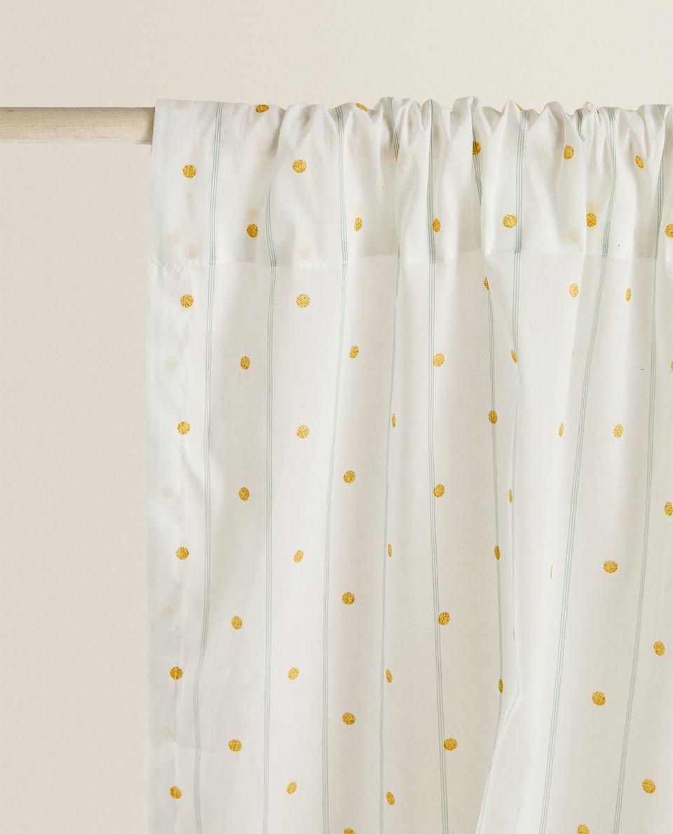 COTTON CURTAIN WITH STRIPES
