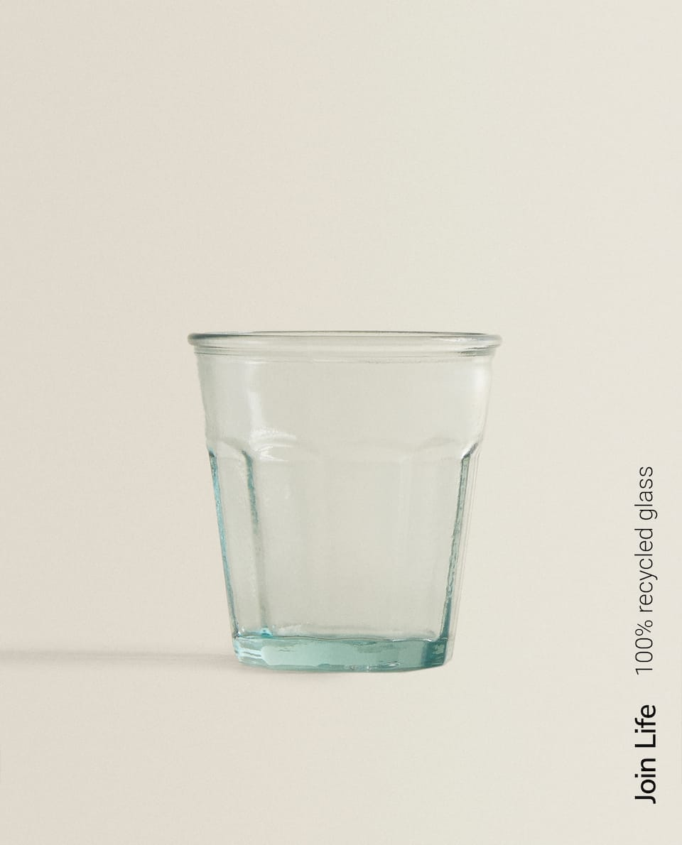 22CL GLASS TUMBLER IN 100% RECYCLED GLASS