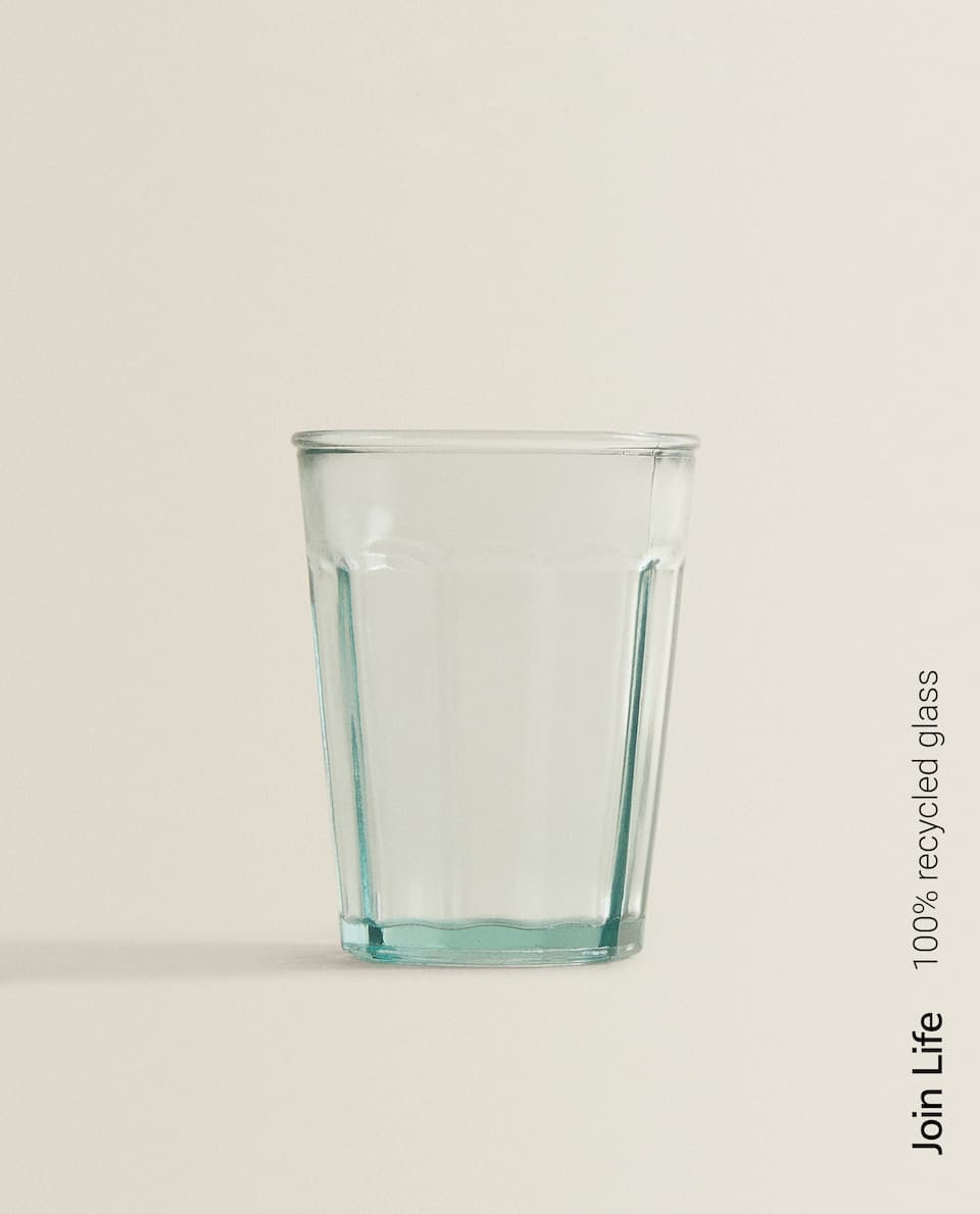 40CL SOFT DRINK TUMBLER IN 100% RECYCLED GLASS