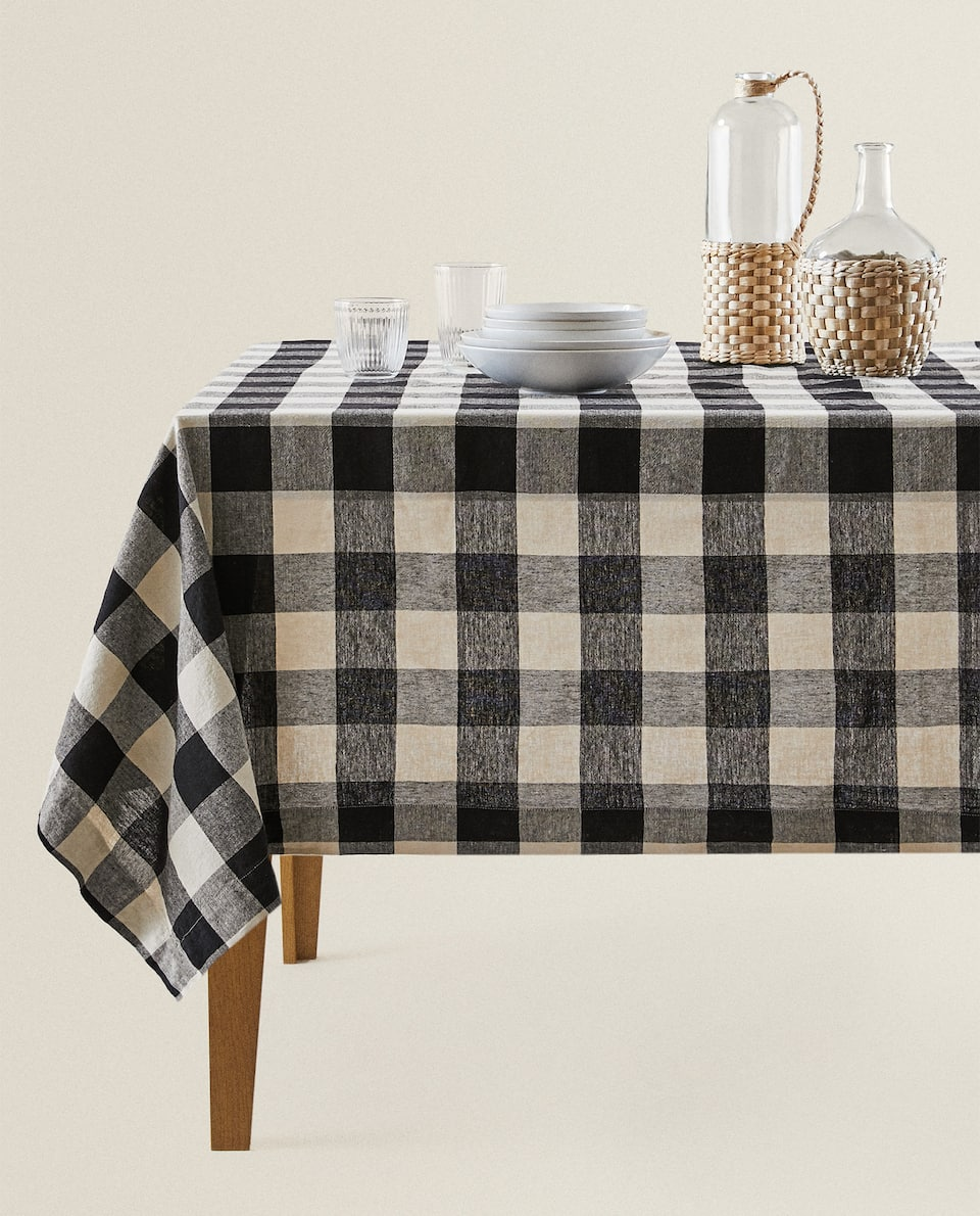 NAPPE LIN CARREAUX