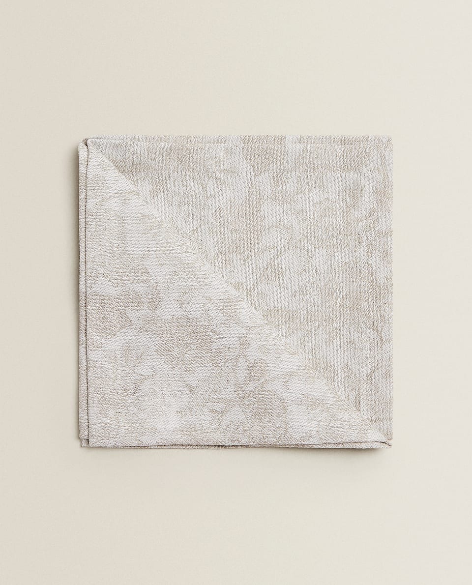 SERVIETTES DE TABLE LIN JACQUARD (LOT DE 2)