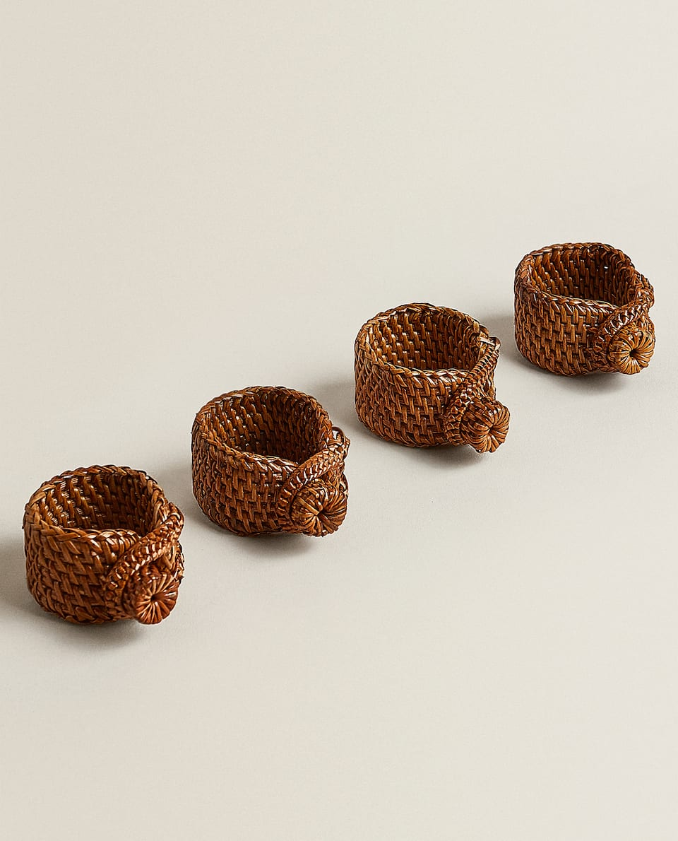 RAFFIA NAPKIN RINGS (PACK OF 4)