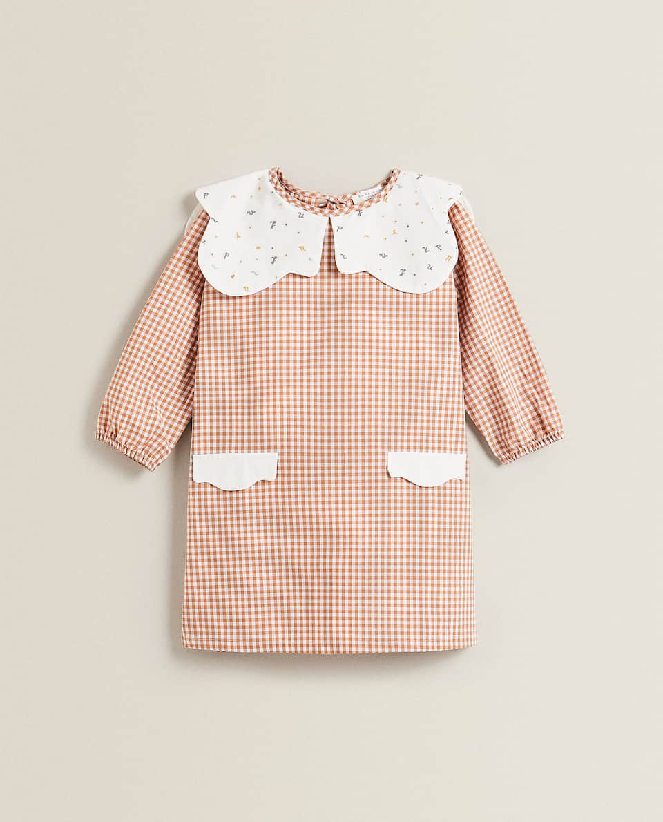 SMOCK WITH PETER PAN COLLAR