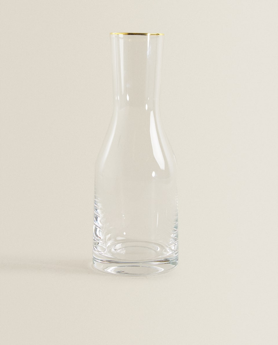 BOHEMIA CRYSTAL GOLD-RIMMED BOTTLE
