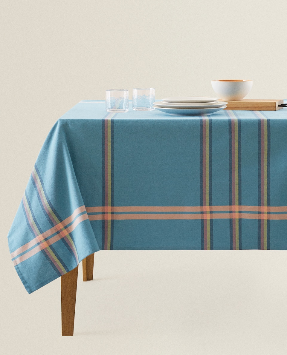 STRIPED COTTON TABLECLOTH