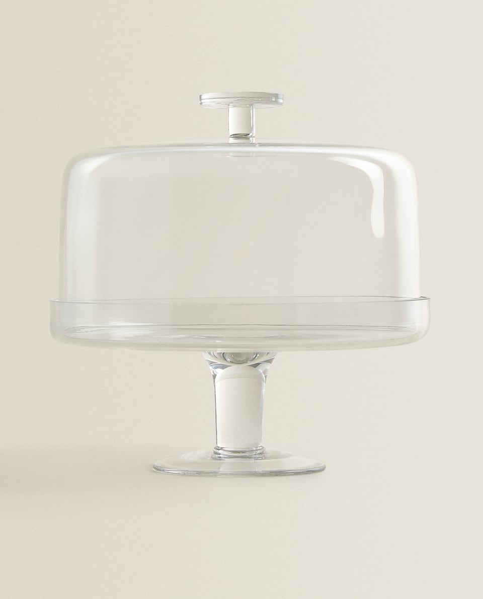 GLASS TIERED SERVING DISH