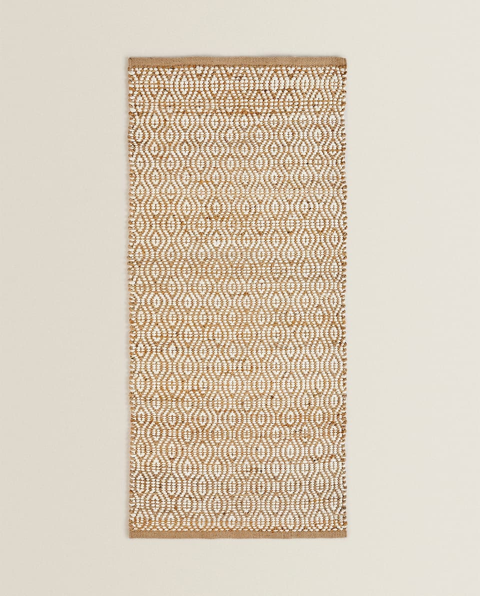 TWO-TONE JUTE AND COTTON RUG