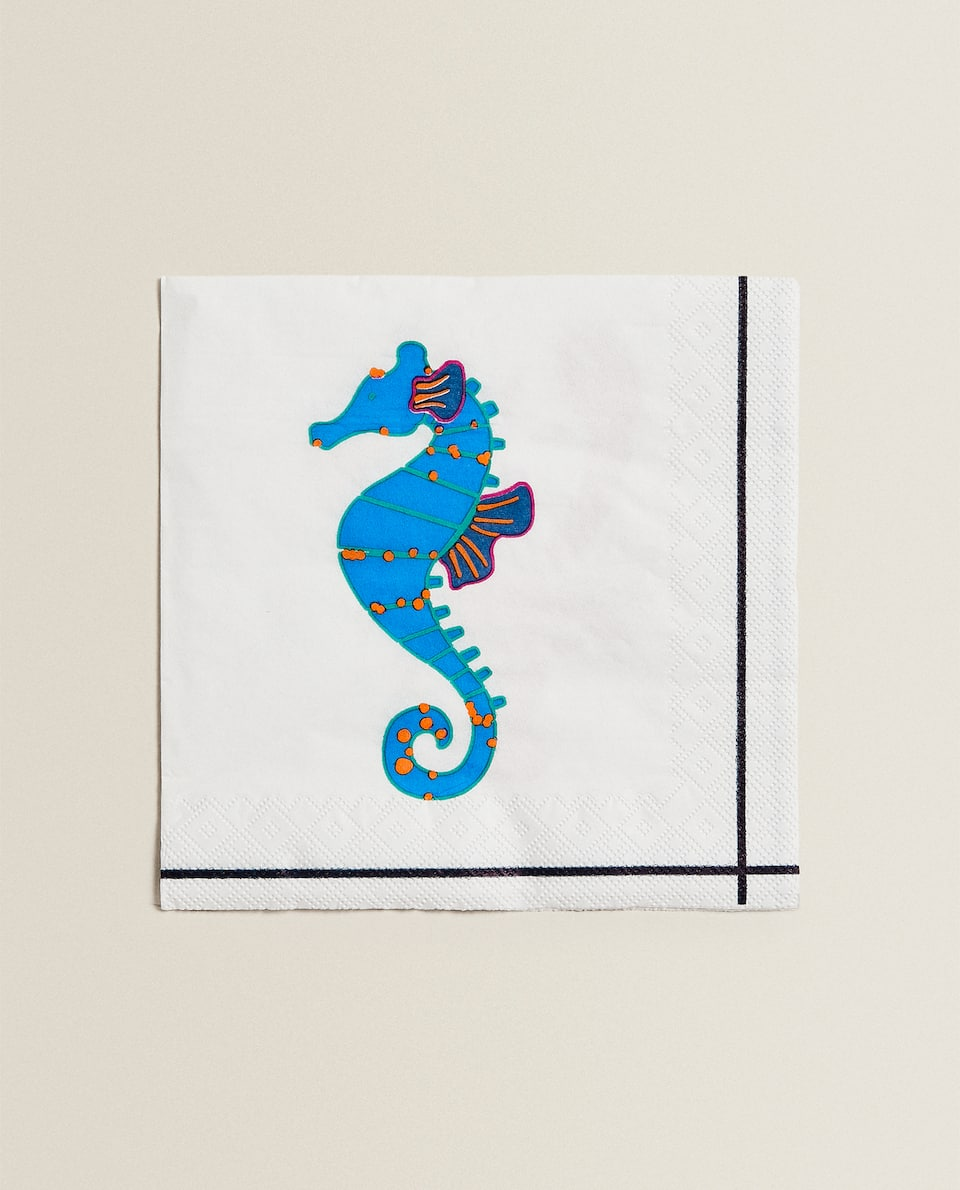 LOBSTER PRINT PAPER NAPKIN (PACK OF 20)