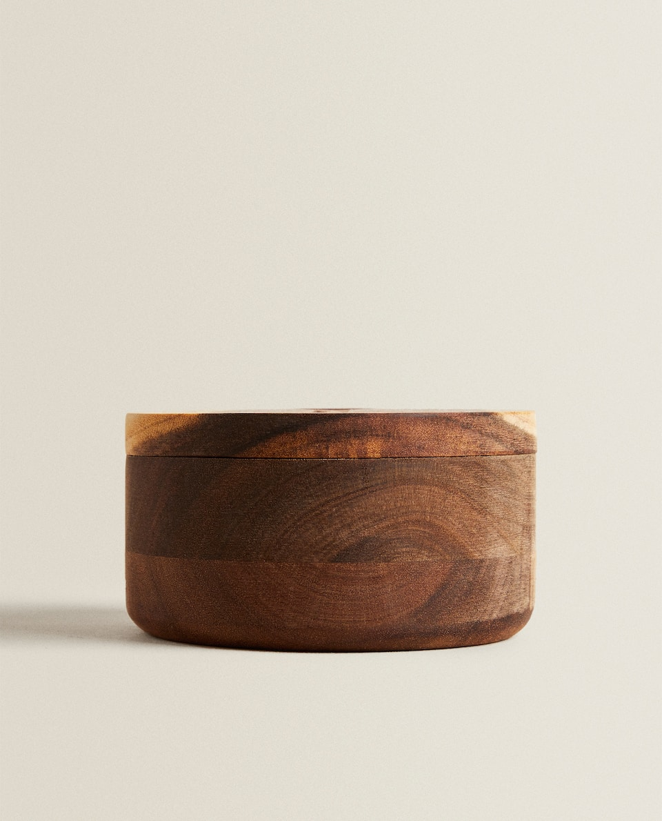 WOODEN SUGAR BOWL WITH MAGNET