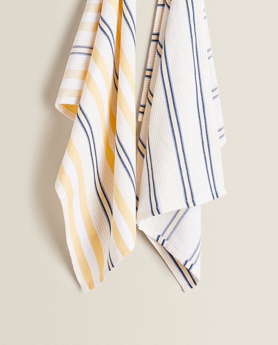 STRIPED TEA TOWEL (PACK OF 2)