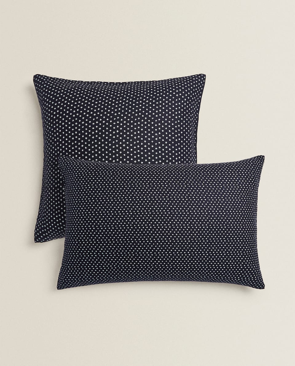 XXL LINEN POLKA DOT CUSHION COVER