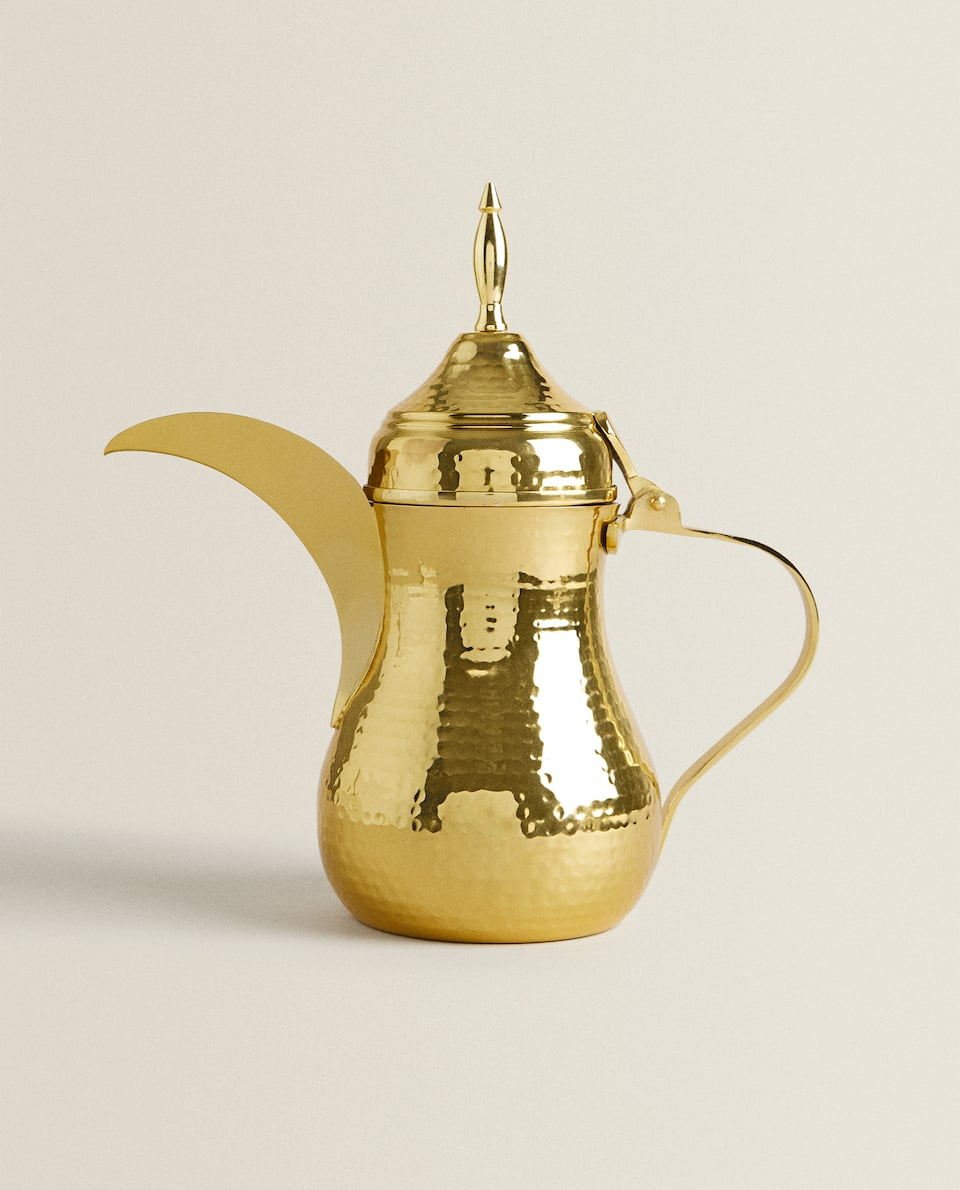 GOLD HAMMERED-EFFECT JUG