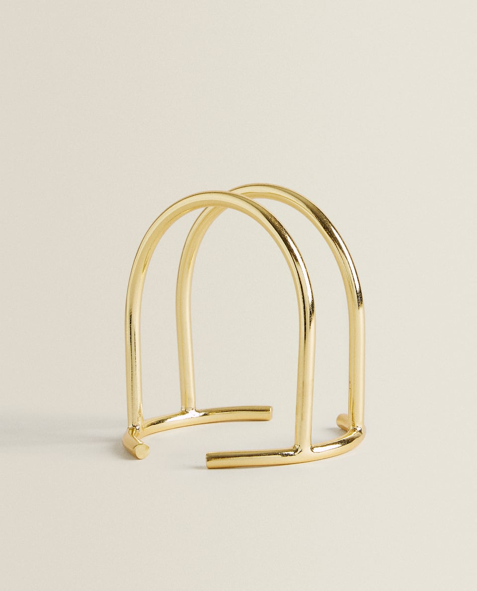 GOLD METAL NAPKIN HOLDER