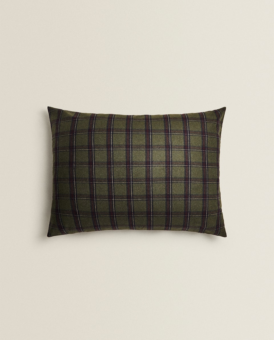 XXL CHECKED CUSHION COVER