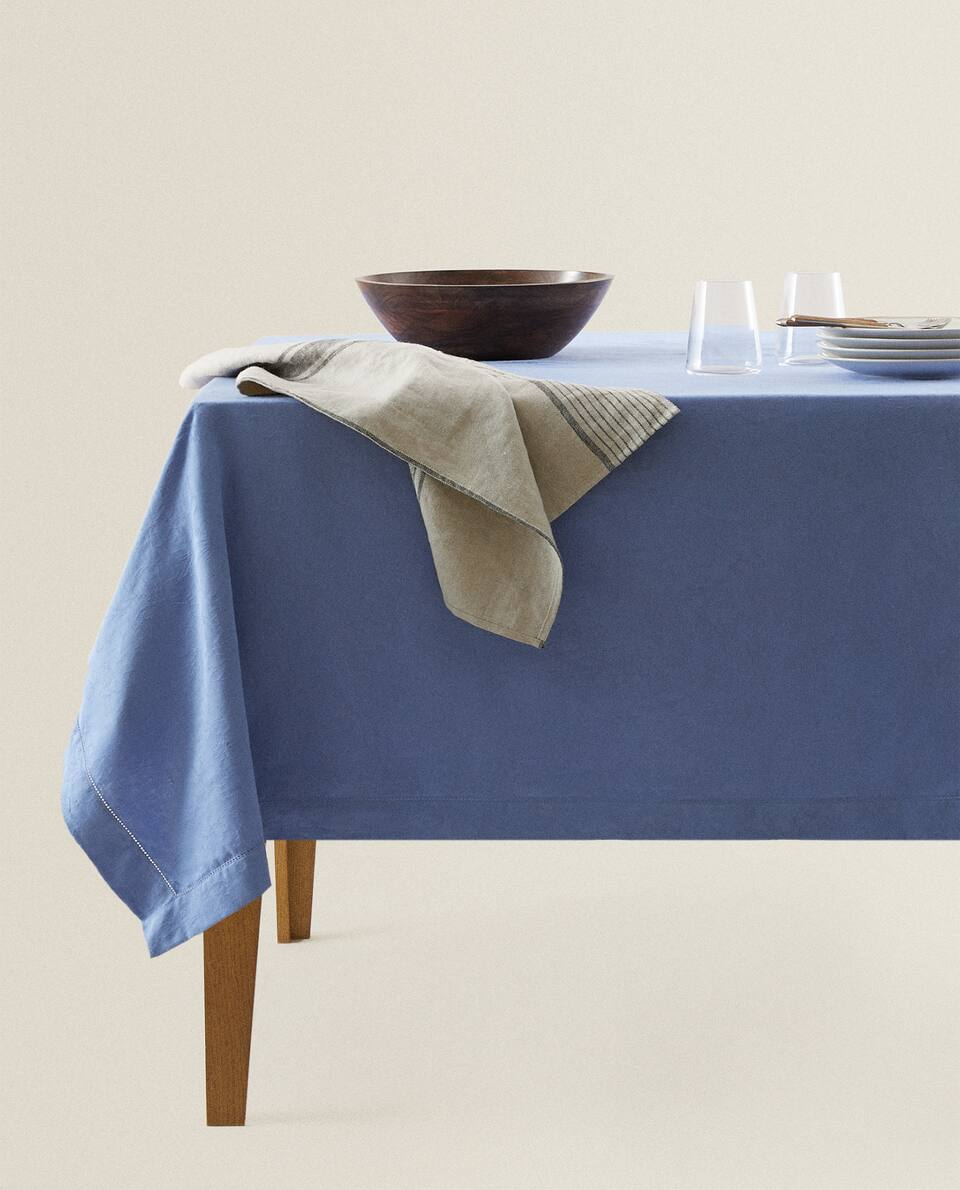 COTTON JACQUARD TABLECLOTH