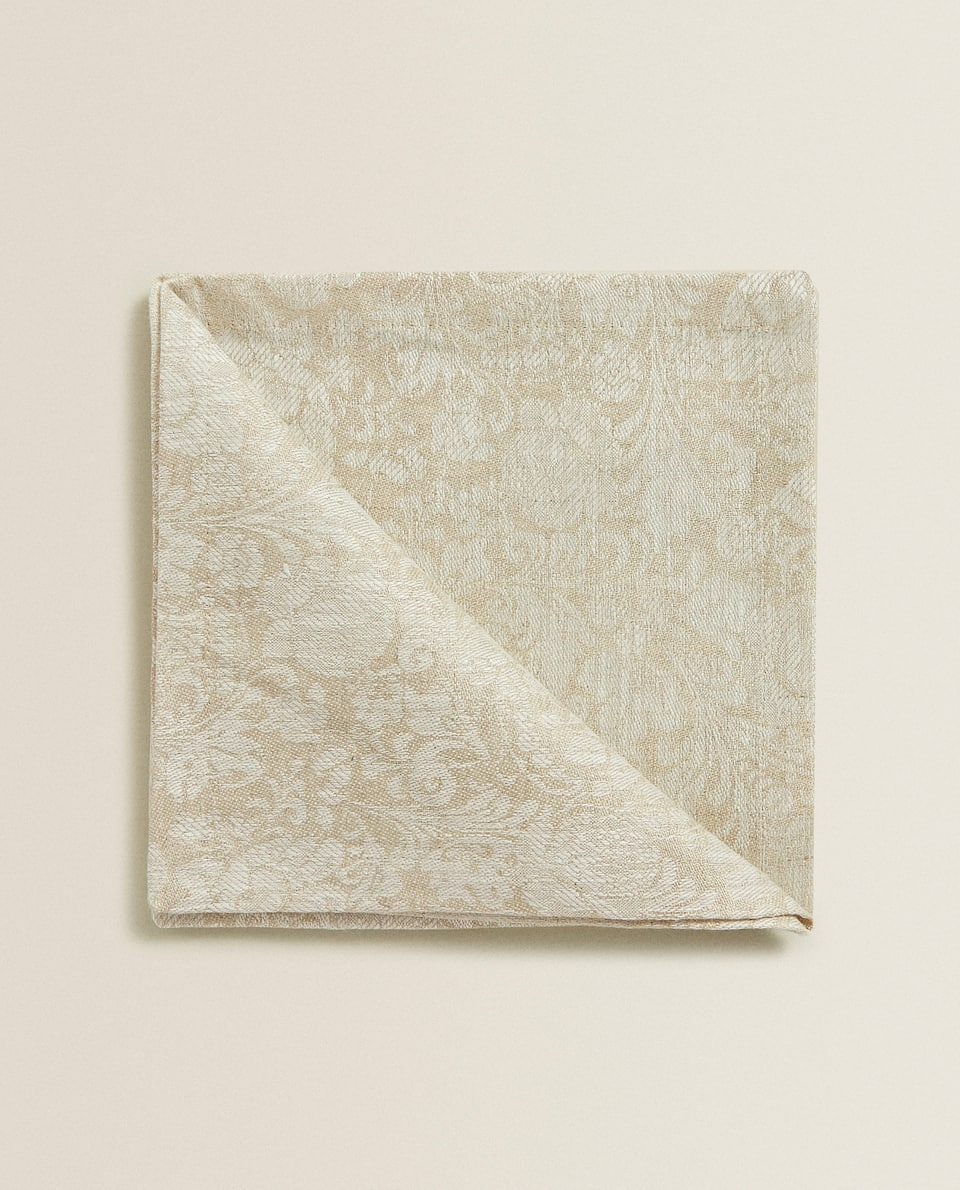 JACQUARD LINEN NAPKIN (PACK OF 4)