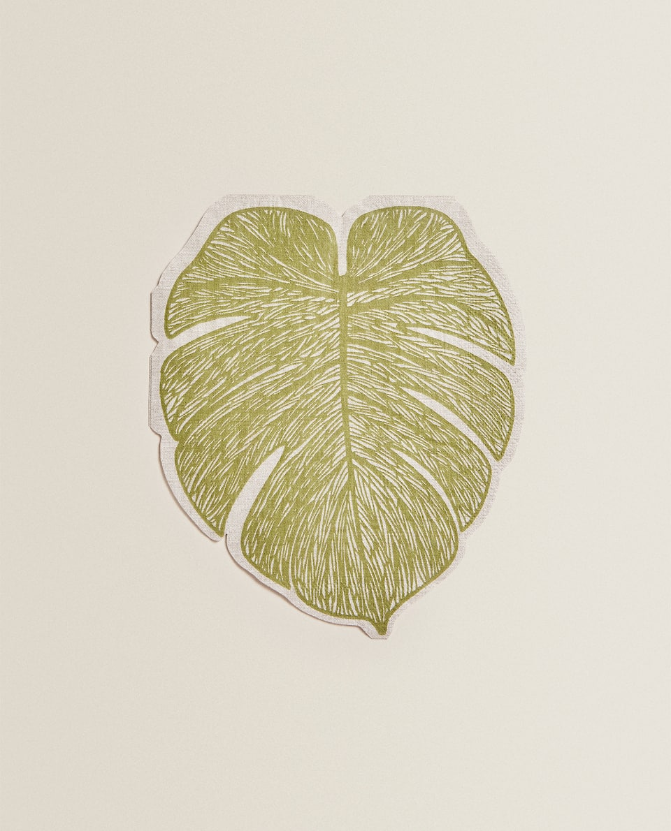 LEAF PRINT PAPER NAPKIN (PACK OF 20)