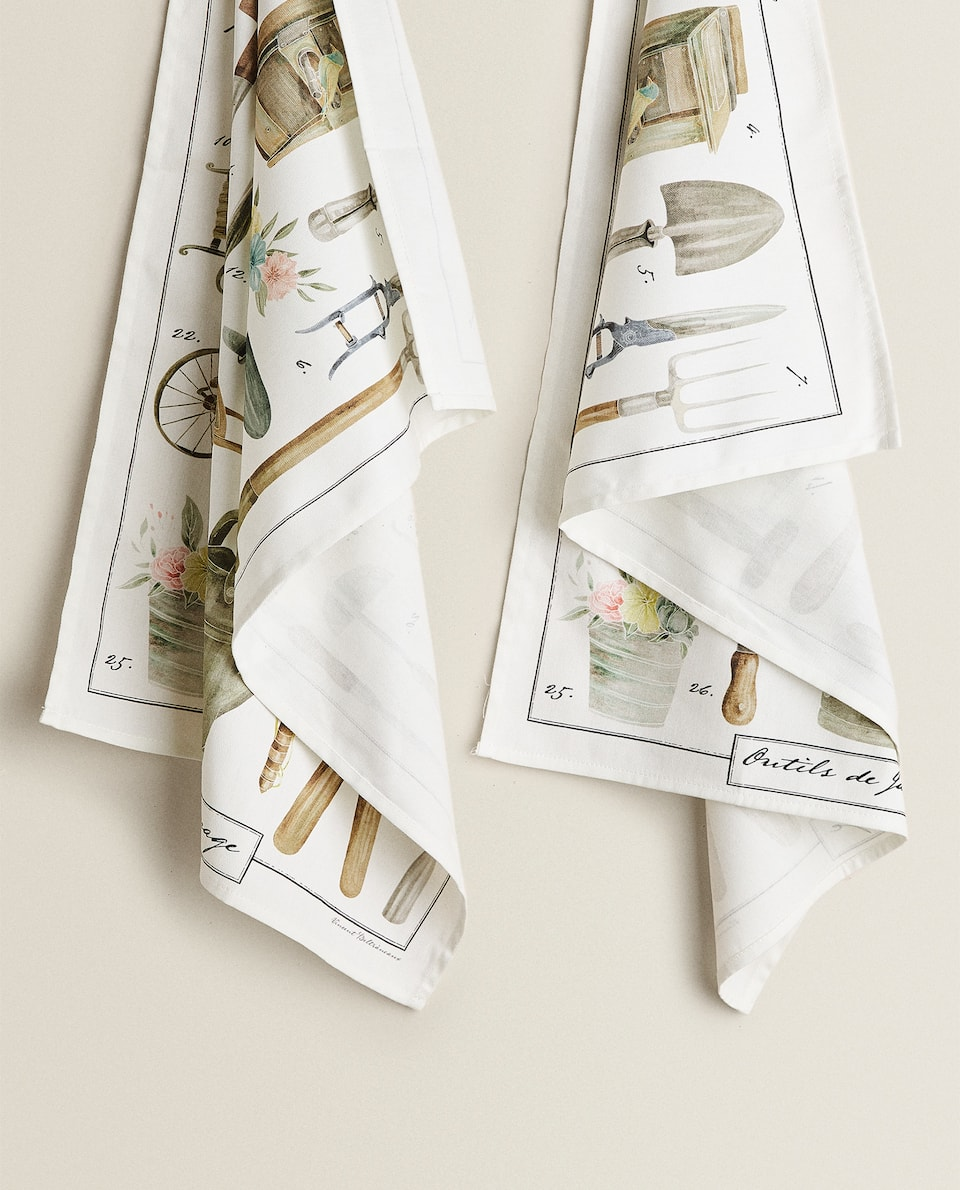 PRINTED COTTON TEA TOWEL (PACK OF 2)
