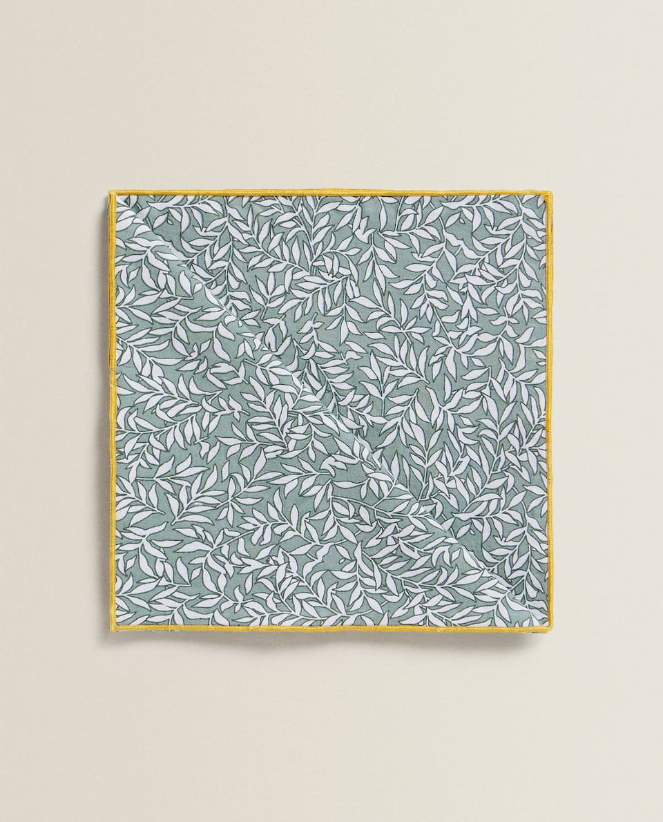 FADED NAPKIN WITH MINI FLORAL PRINT (PACK OF 2)