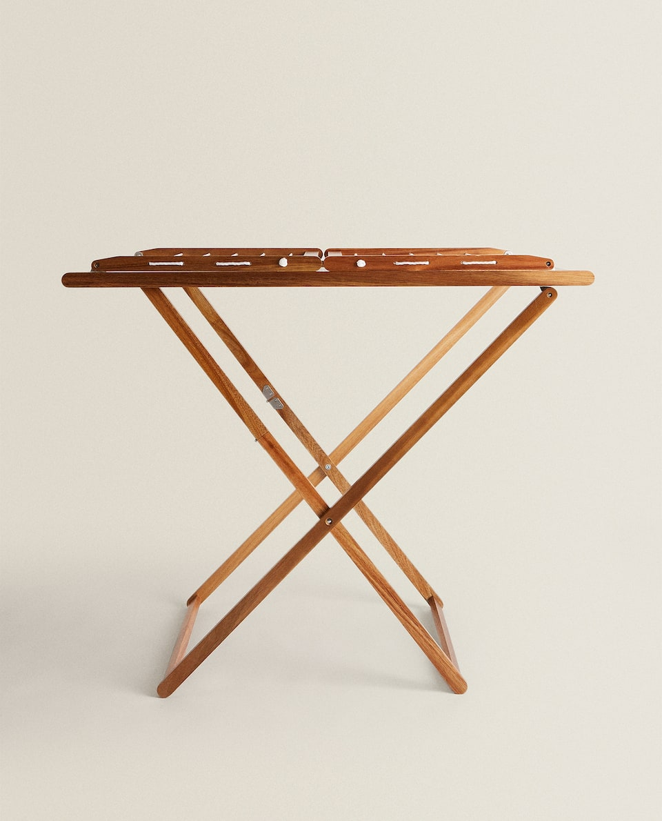 FOLDING WOODEN CLOTHES HORSE